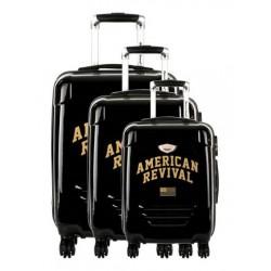 Valise rigide cabine American Revival ABS & Polycarbonate 4 Roues 3 dimensions au choix neuve