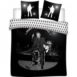 Parure 2 personnes Housse de couette + 2 taies collection Johnny Hallyday 100% coton 240 X 220 CM licence officielle v02 neuve