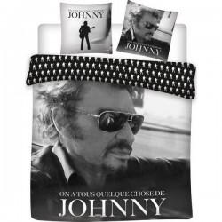 Parure 2 personnes Housse de couette + 2 taies collection Johnny Hallyday 100% coton 240 X 220 CM licence officielle v03 neuve