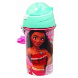 Gourde pop up Vaiana avec une paille rétractable licence officielle Disney enfant neuve
