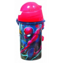 Gourde pop up Spiderman avec une paille rétractable licence officielle Marvel Comics enfant neuve