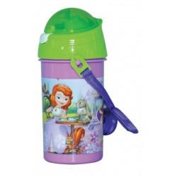 Gourde pop up princesse Sofia avec une paille rétractable licence officielle Disney enfant neuve