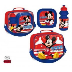 Sac Isotherme Mickey avec boîte à goûter et gourde assorties licence officielle Disney neuf