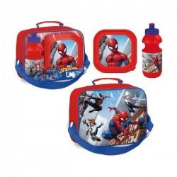 Sac Isotherme Spiderman avec boîte à goûter et gourde assorties licence officielle Marvel Comics neuf