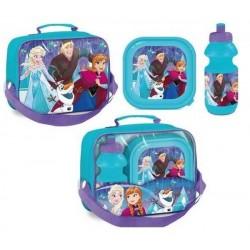 Sac Isotherme La reine des neiges Frozen avec boîte à goûter et gourde assorties licence officielle Disney neuf