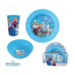 Coffret 3 pièces Déjeuner bol assiette et verre reine des neiges licence Disney IDEE CADEAU ANNIVERSAIRE NOEL NEUF
