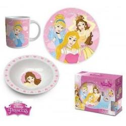 Coffret ensemble 3 pièces Mug bol assiette céramique Princesse licence Disney ENFANT IDEE CADEAU ANNIVERSAIRE NOEL NEUF