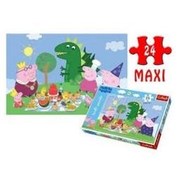 Maxi Puzzle 24 grandes pièces Peppa Pig marque TREFL enfant jeux jouet Idée cadeau anniversaire noel neuf