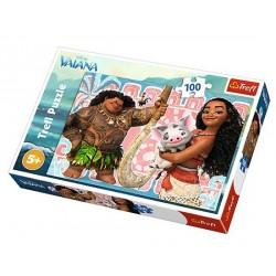 Puzzle 100 pièces Vaiana Disney marque TREFL jeux jouet idée cadeau anniversaire noel neuf