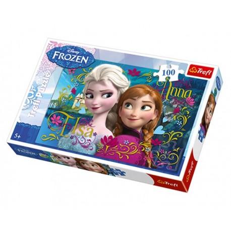 Puzzle 100 pièces La Reine des Neiges Disney marque TREFL jeux jouet idée cadeau anniversaire noel neuf