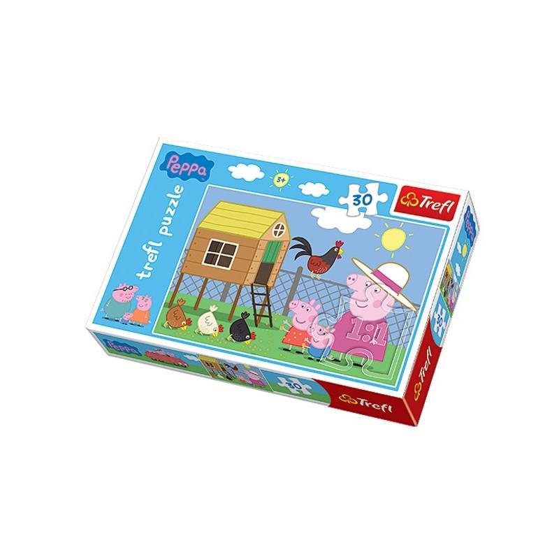 Puzzle 30 pièces PEPPA PIG marque TREFL enfant mixte jeux société idée cadeau anniversaire noel ...