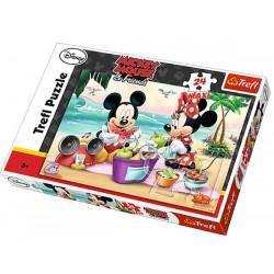 Maxi Puzzle 24 grandes pièces Mickey et Minnie Disney marque TREFL enfant jeux Idée cadeau anniversaire noel neuf