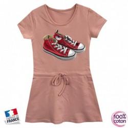 Robe sport en coton pour enfant Basket rose du 4 au 14 ans vêtement idée cadeau anniversaire neuve