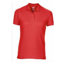 T shirt polo manche courtes femme ou ados MARQUE GILDAN ROUGE du S au XXL vêtement neuf