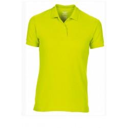T shirt polo manche courtes femme ou ados MARQUE GILDAN JAUNE du S au XXL vêtement neuf