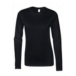 T shirt manche longues femme ou ados MARQUE GILDAN NOIR du S au XXL vêtement neuf