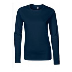 T shirt manche longues femme ou ados MARQUE GILDAN BLEU MARINE du S au XXL vêtement neuf
