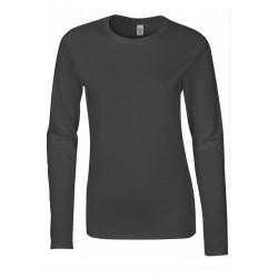 T shirt manche longues femme ou ados MARQUE GILDAN GRIS FONCE du S au XXL vêtement neuf