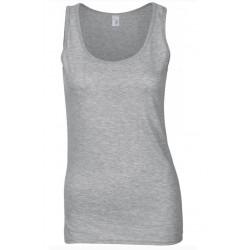 T shirt Débardeur femme ou ados MARQUE GILDAN GRIS du S au XXL vêtement neuf