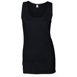 T shirt Débardeur femme ou ados MARQUE GILDAN NOIR du S au XXL vêtement neuf