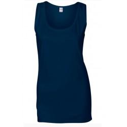 T shirt Débardeur femme ou ados MARQUE GILDAN BLEU MARINE du S au XXL vêtement neuf