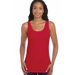 T shirt Débardeur femme ou ados MARQUE GILDAN ROUGE du S au XXL vêtement neuf