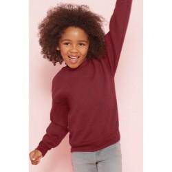 SWEAT SHIRT enfant mixte MARQUE GILDAN bordeaux du 5/6 au 12/14 ans vêtement neuf