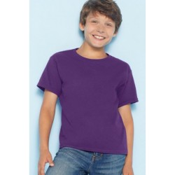 T shirt manches courtes garcon MARQUE GILDAN Violet du 3/4 au 12/14 ans vêtement enfant neuf