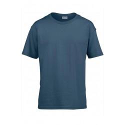 T shirt manches courtes garcon MARQUE GILDAN Indigo du 3/4 au 12/14 ans vêtement enfant neuf