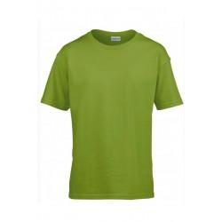T shirt manches courtes garcon MARQUE GILDAN Vert Kiwi du 3/4 au 12/14 ans vêtement enfant neuf