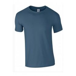 T shirt manches courtes homme ou ados MARQUE GILDAN bleu Indigo du S au XXL vêtement neuf