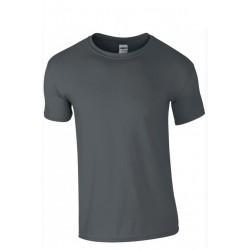 T shirt manches courtes homme ou ados MARQUE GILDAN gris foncé du S au XXL vêtement neuf