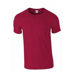 T shirt manches courtes homme ou ados MARQUE GILDAN rouge cerise du S au XXL vêtement neuf