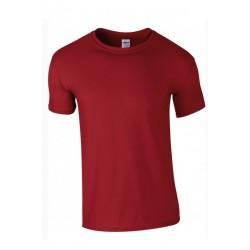 T shirt manches courtes homme ou ados MARQUE GILDAN rouge du S au XXL vêtement neuf
