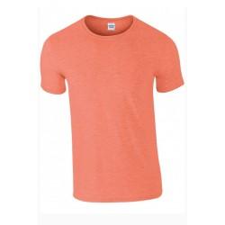 T shirt manches courtes homme ou ados MARQUE GILDAN orange du S au XXL vêtement neuf
