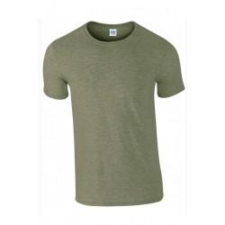 T shirt manches courtes homme ou ados MARQUE GILDAN gris militaire du S au XXL vêtement neuf