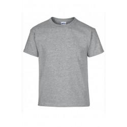 T shirt manches courtes fille MARQUE GILDAN Gris du 3/4 au 12/14 ans vêtement enfant neuf