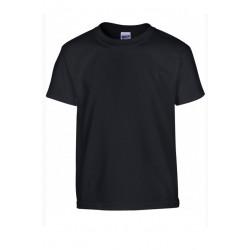 T shirt manches courtes fille MARQUE GILDAN Noir du 3/4 au 12/14 ans vêtement enfant neuf
