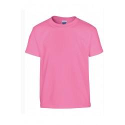 Tshirt manches courtes fille MARQUE GILDAN rose du 3/4 au 12/14 ans qualité supérieure idée cadeau neuf