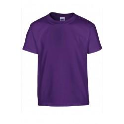 T shirt manches courtes fille MARQUE GILDAN Violet du 3/4 au 12/14 ans vêtement enfant neuf