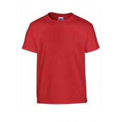 T shirt manches courtes fille MARQUE GILDAN Rouge du 3/4 au 12/14 ans vêtement enfant neuf