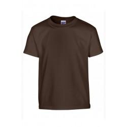 T shirt manches courtes fille MARQUE GILDAN marron du 3/4 au 12/14 ans vêtement enfant neuf