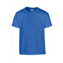 T shirt manches courtes fille MARQUE GILDAN bleu Royale du 3/4 au 12/14 ans vêtement enfant neuf