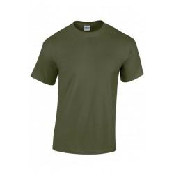 T shirt manches courtes homme ou ados MARQUE GILDAN Kaki du S au XXL vêtement neuf