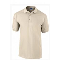 Tshirt Polo homme ados Beige MARQUE GILDAN du S au XXL Qualité supérieur idée cadeau neuf