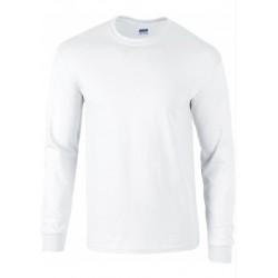 T shirt manches longues homme ou ados MARQUE GILDAN Blanc du S au XXL vêtement 190 gr/m² Qualité supérieur neuf