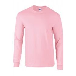 Tshirt manches longues homme ados MARQUE GILDAN rose du S au XXL vêtement 190 gr/m² Qualité supérieur neuf