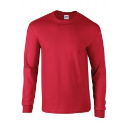 T shirt manches longues homme ou ados MARQUE GILDAN Rouge du S au XXL vêtement 190 gr/m² Qualité supérieur neuf