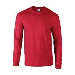 Tshirt manches longues homme ados MARQUE GILDAN rouge du S au XXL vêtement 190 gr/m² Qualité supérieur neuf