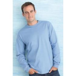 T shirt manches longues homme ou ados MARQUE GILDAN bleu Ciel du S au XXL vêtement 190 gr/m² Qualité supérieur neuf